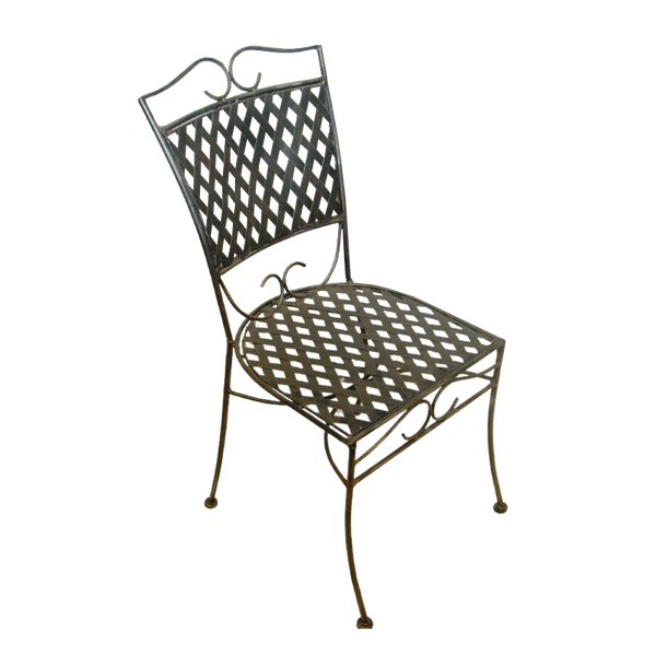 Wrought Iron Dining Chair, Oxford Style