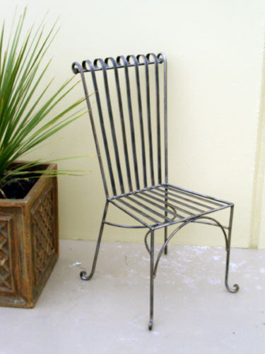 Outdoor dining chair, Emily style, wrought iron
