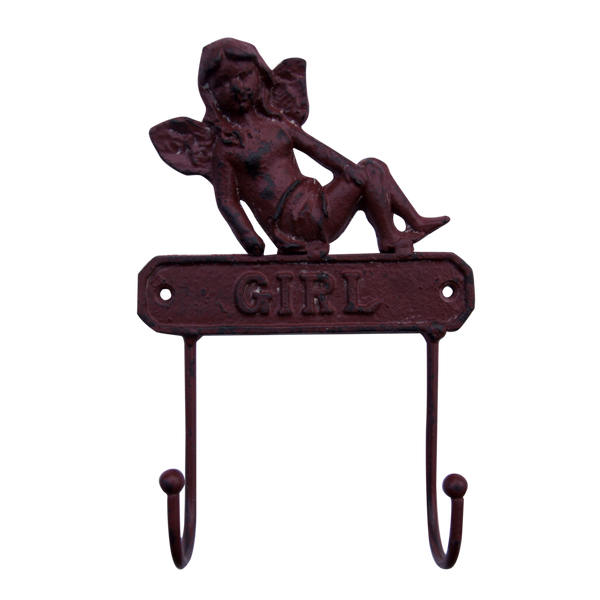 Cast Iron Girl Wall Hooks