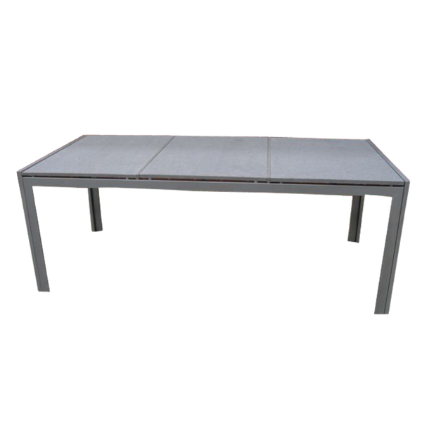 Outdoor Dining Granite Stone Table Trois Galvanized Metal Base Furniture - no longer available