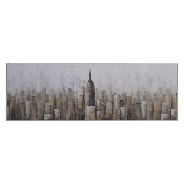 Painting Towers Print Artwork - Wood Frame