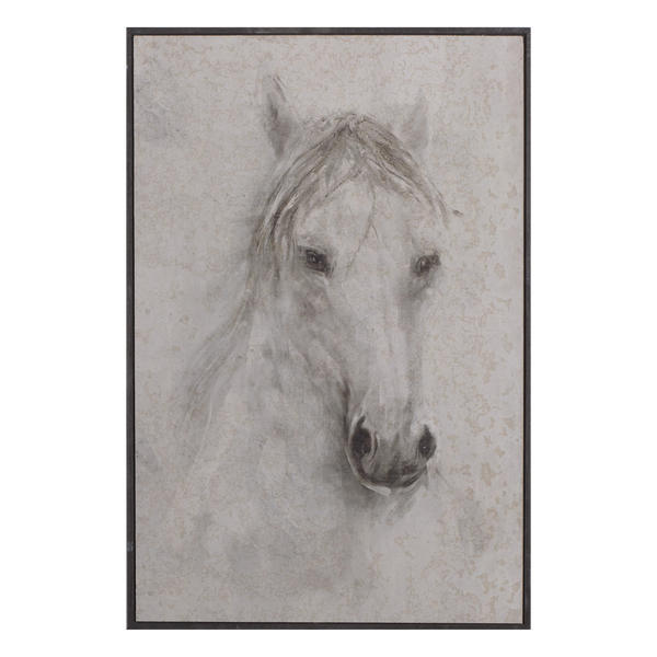 Painting Horse Print Artwork Wood Frame
