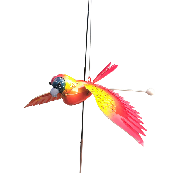 Garden Stake Fishing Rod Parrot