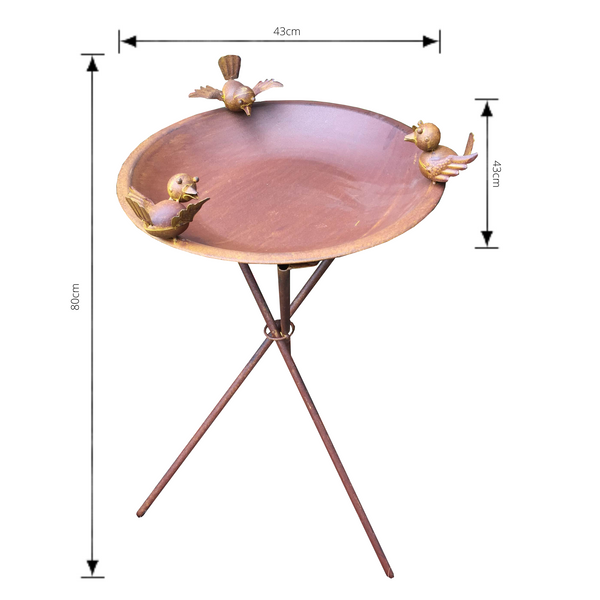 birdbath or bird feeder with measurements
