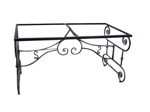 Outdoor Table Base Rectangle Wrought Iron Suits 2.1M Top