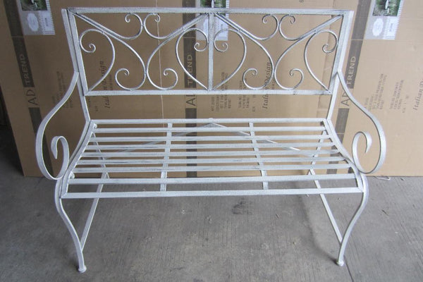GARDEN BENCH- ELIZA GREY BRUSH 114X45X92CM