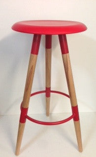Ufo Stool Red  76cm high- CLEARANCE!!! LIMITED STOCKS!!!