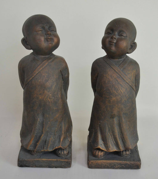 MONK PAIR 11X12X31CM EACH