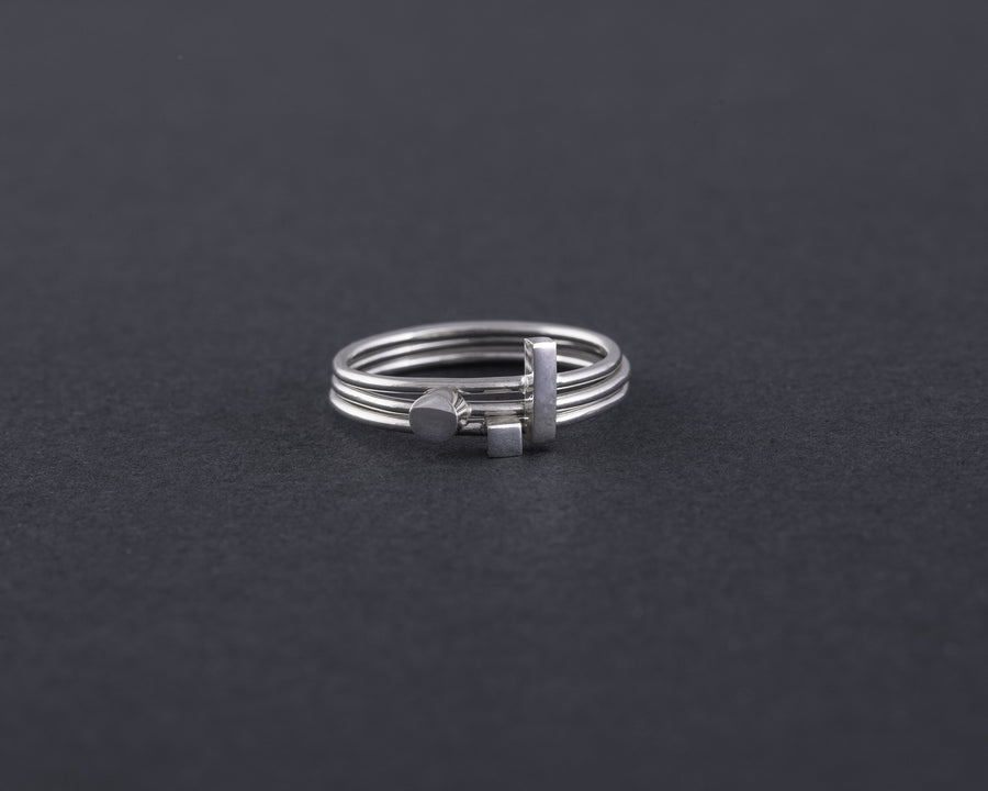 Square/Bar/Circle rings