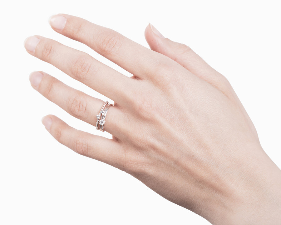 Zircon solitaire ring