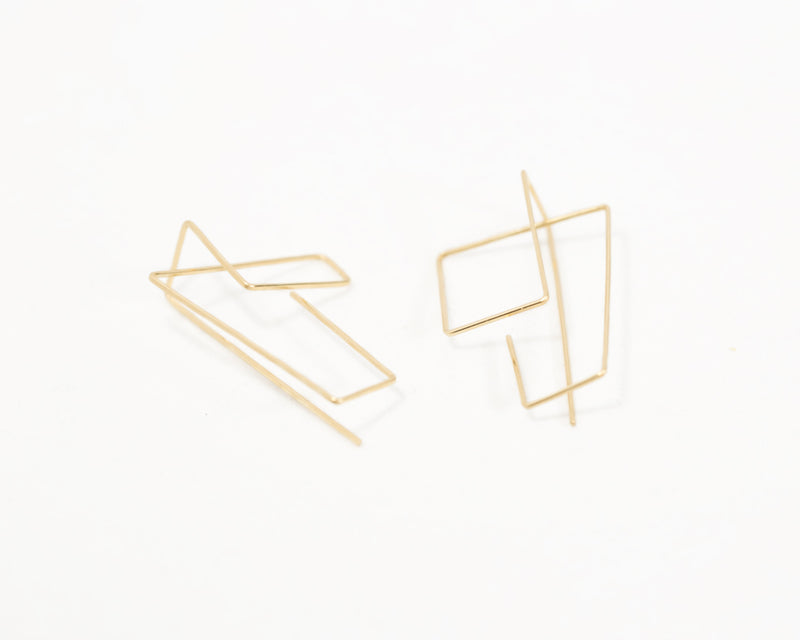 Architectural line earrings