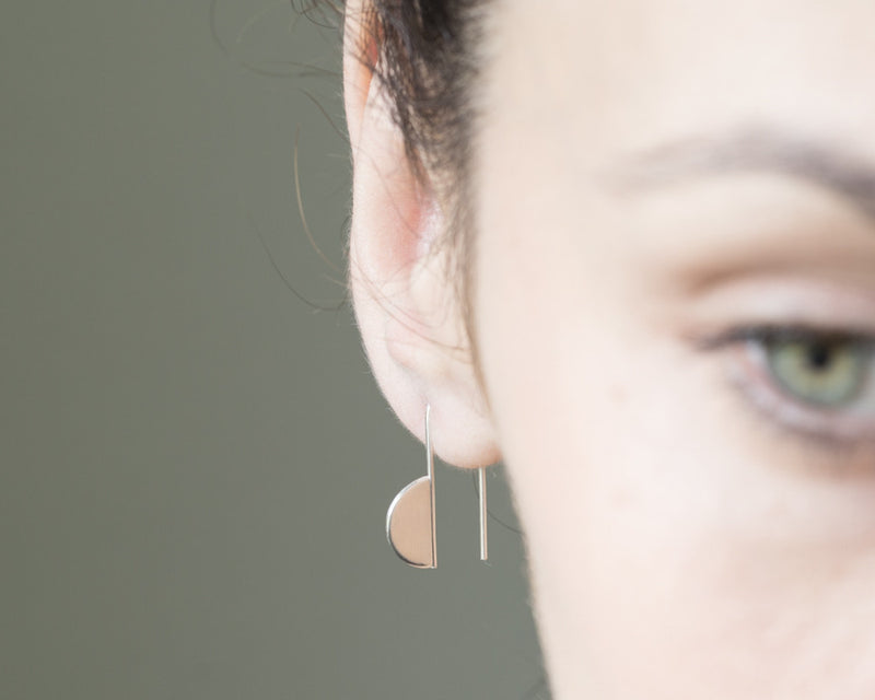 Half circle earrings.
