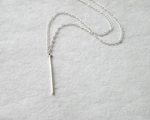 Edgy silver line necklace