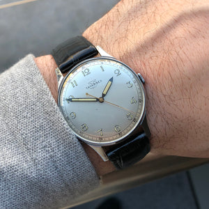1950 Tavannes Radium Dial New-Old-Stock