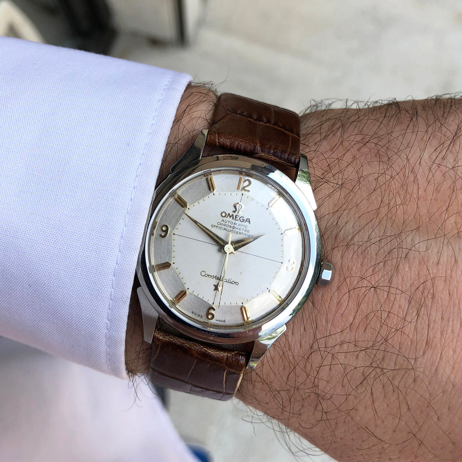 1960 Omega Constellation Pie-Pan Dial
