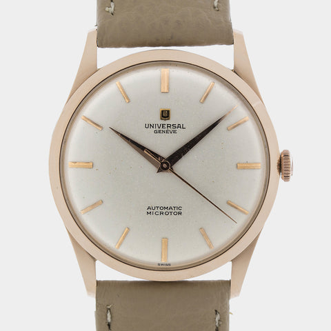 <b>ON HOLD</b> - 1958 Universal Geneve Automatic Microtor 18k RG