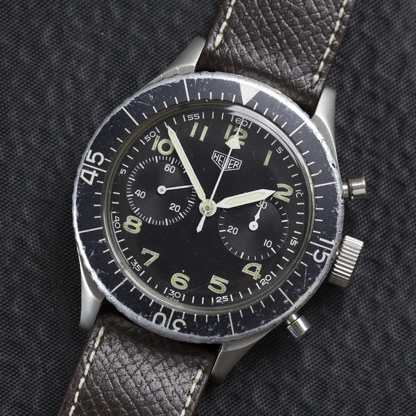 "1970 Heuer ""Bund"" Flyback for German Air Forces"