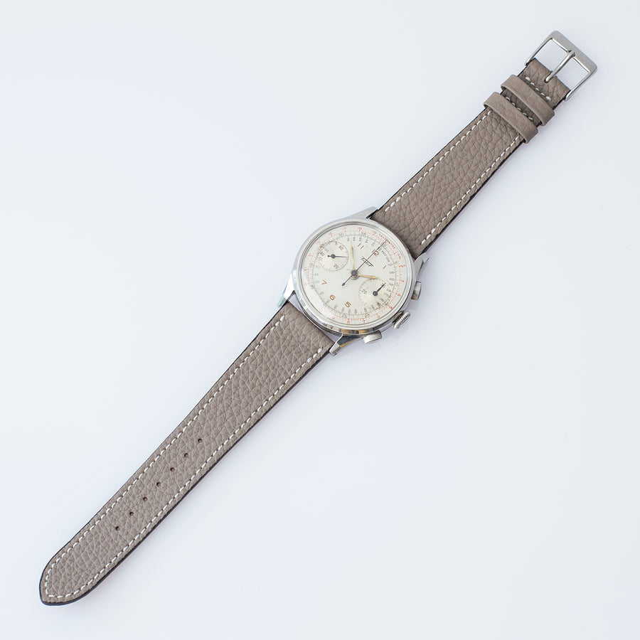 Textured Pewter Gray Calfskin Watch Strap