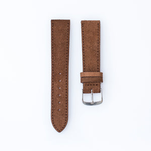 Macore Brown Suede Watch Strap