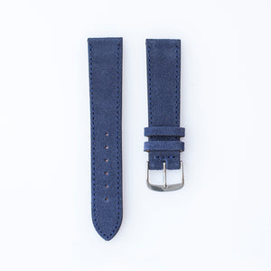 Navy Blue Suede Watch Strap