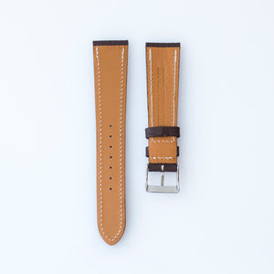 Textured Hickory Brown Calfskin Watch Strap