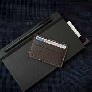 Dark Brown Calfskin Cardholder