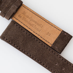 Chocolate Brown Suede Watch Strap