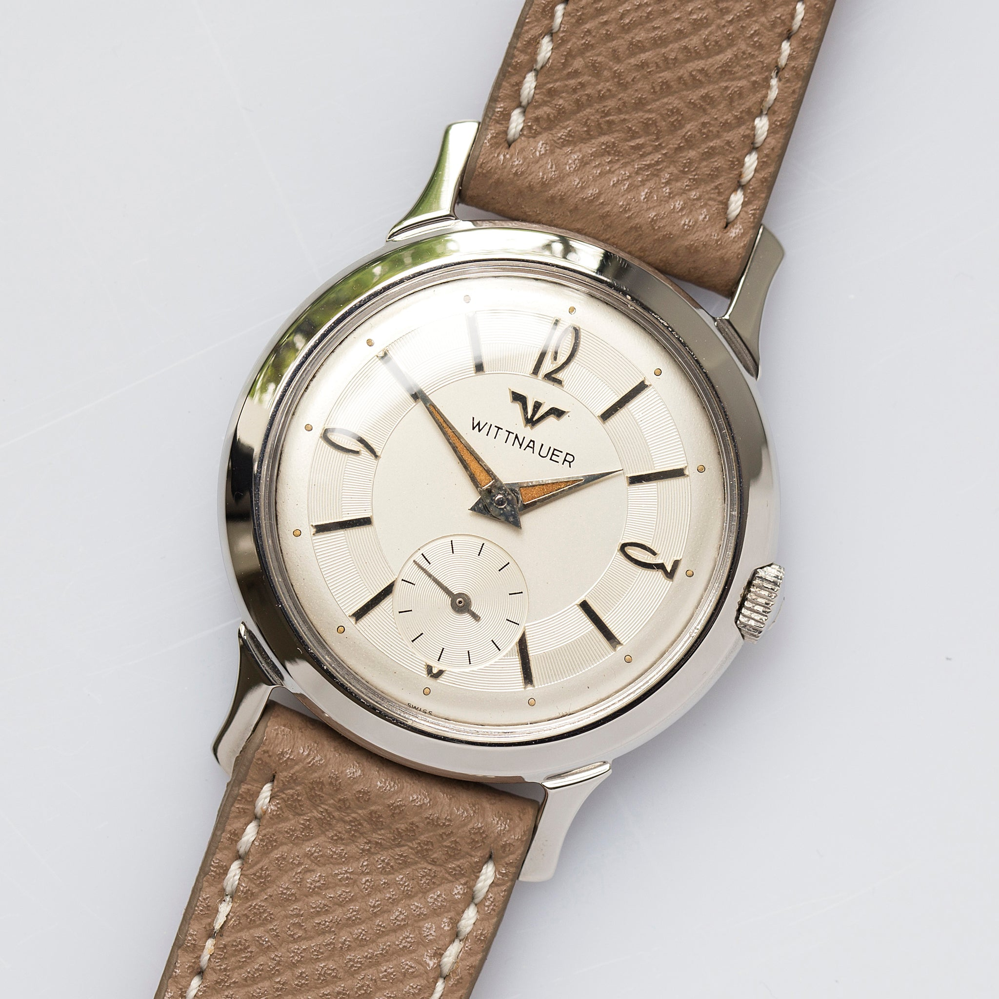 Wittnauer Watch Value >> 1959 Wittnauer Guilloche Radium Dial