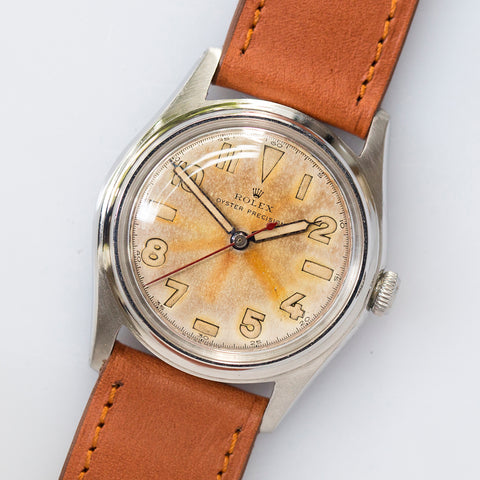 <b>ON HOLD</b> - 1945 Rolex Oyster Precision Tropical Radium Dial