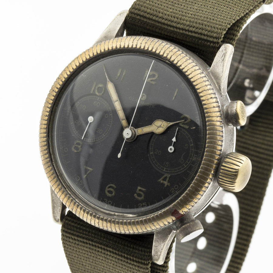 1941 Glashütte Original German Military Flyback Chronograph