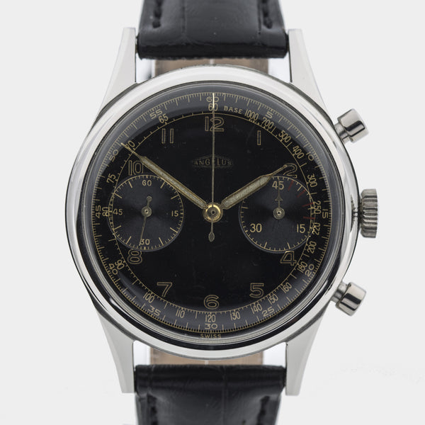 1955 Angelus Chronograph Rare Screw-back