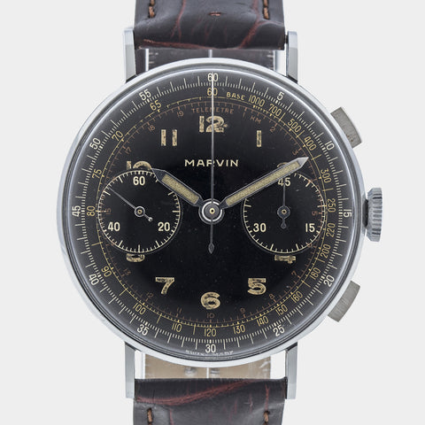 1939 Marvin Military Chronograph New-Old-Stock