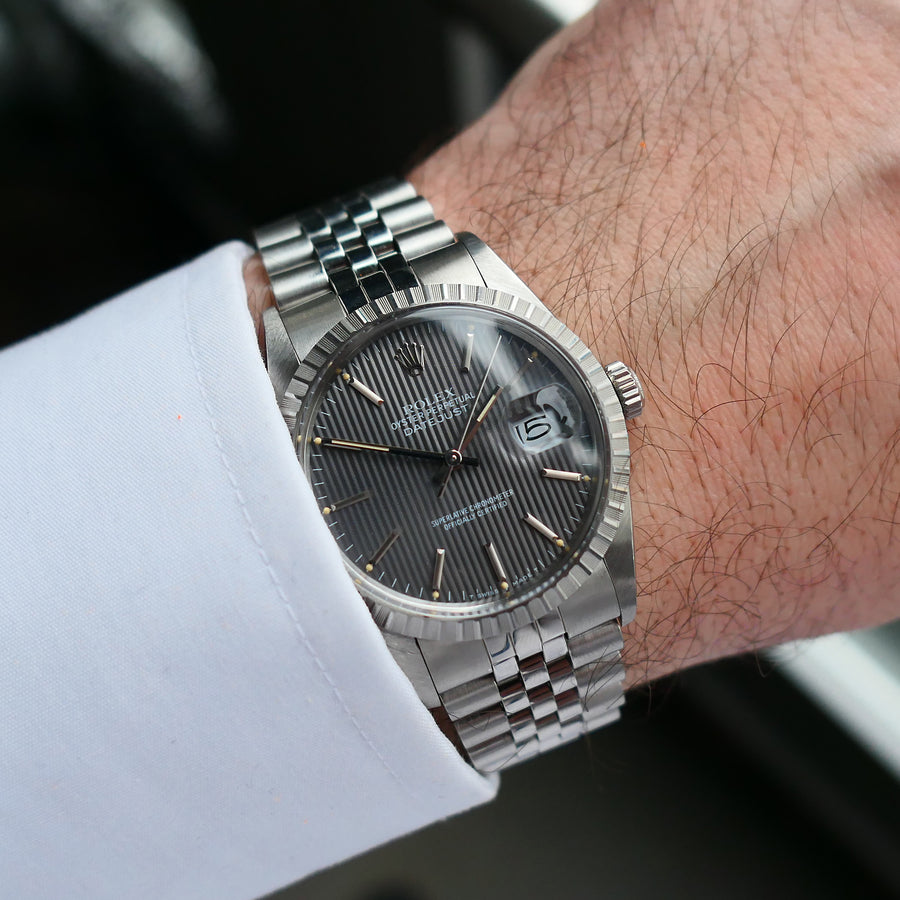 1985 Rolex Datejust Ref.16030 Slate Tapestry Dial