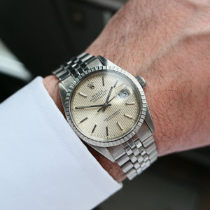 1985 Rolex Datejust Ref.16030 Silver Tapestry Dial