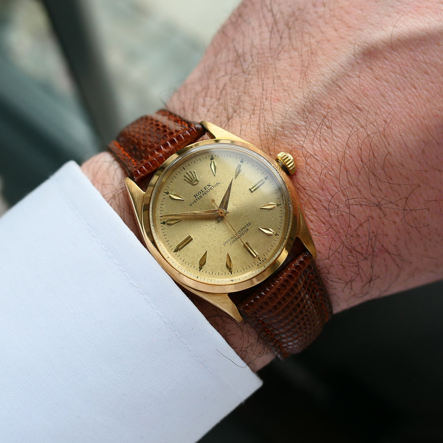 1955 Rolex Oyster Perpetual Ref.6564 14k Gold