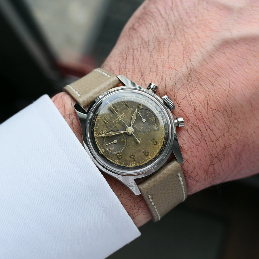 1945 Tissot CH27 Tropical Two-Tone Chrono
