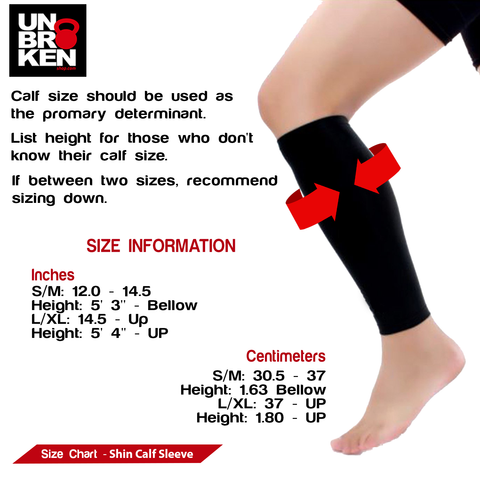 Crossfit shin calf compression support