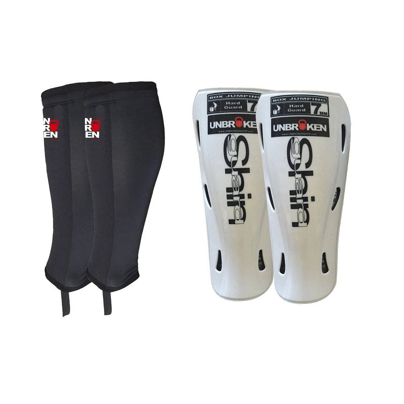 shin sleeves and hand guards combo