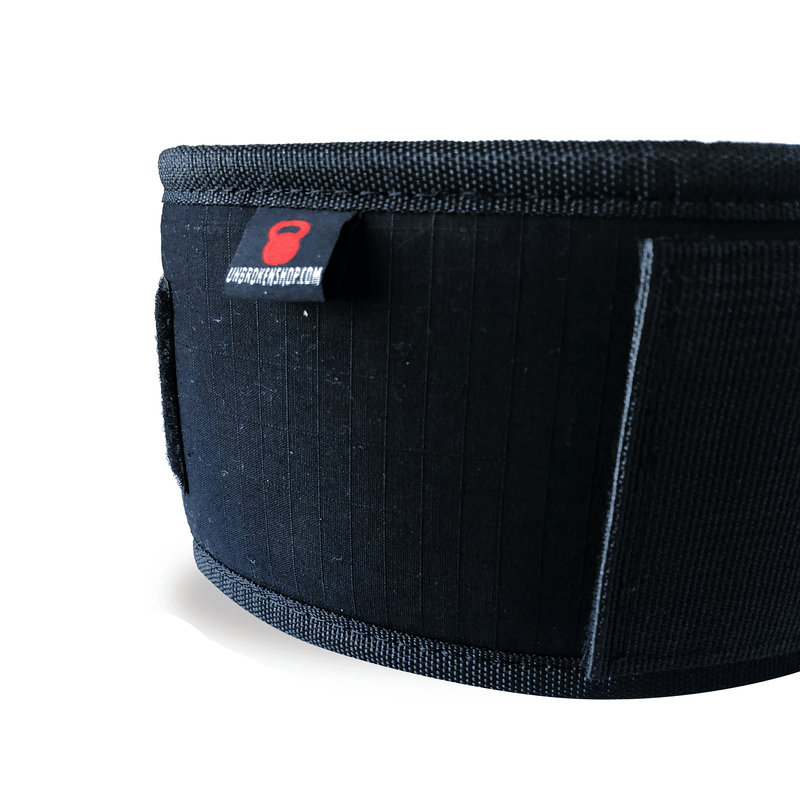 crossfit weight lifting belt black detail