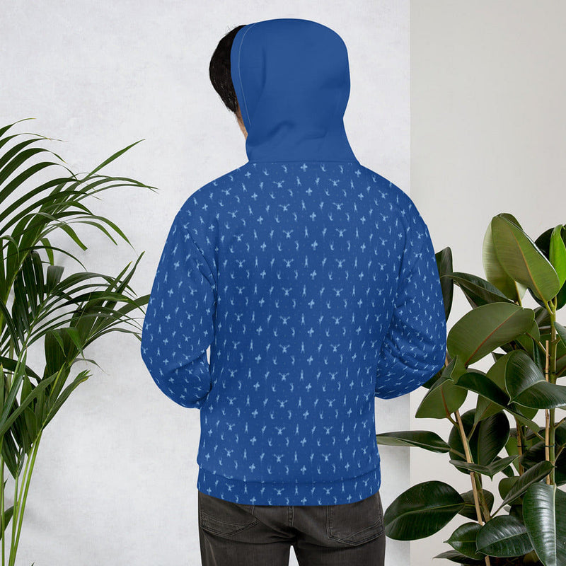 cool blue hoodie for men