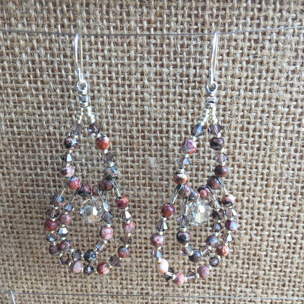 Jasper Chandelier Earrings
