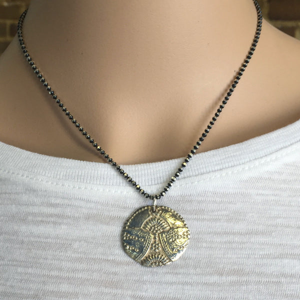 Silver Clay Pendant Necklace