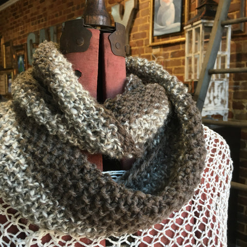 Infinity Alpaca Scarf Grey Two Tone