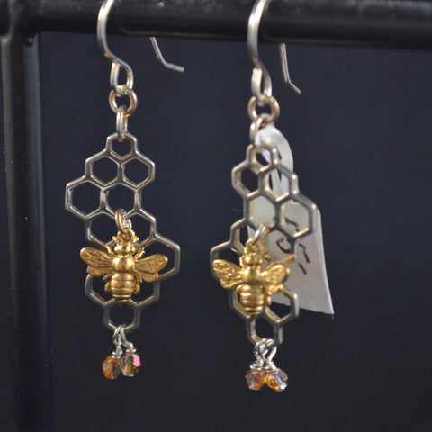 Sterling Silver Bumble Bee Earrings