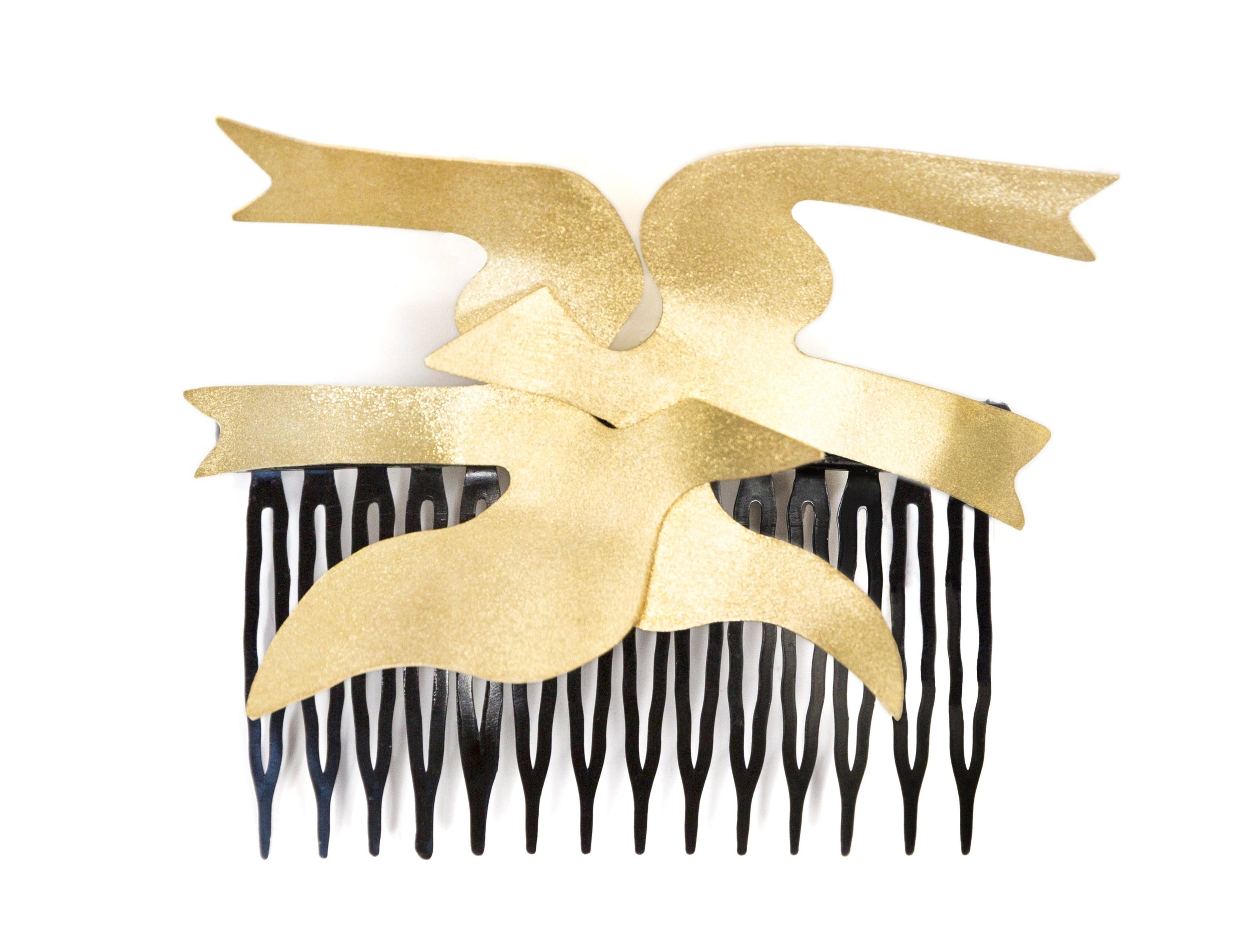 Hair Comb Clip With Birds