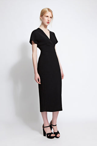 Carine Black Midi Dress