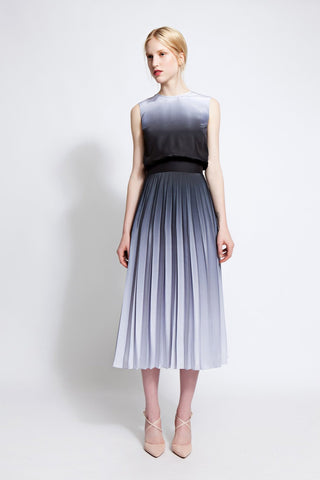 Cameron Pleated Ombré Dress