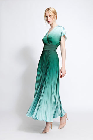 Eva Pleated Ombré Dress