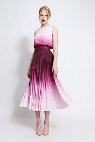 Stella Pleated Ombré Dress