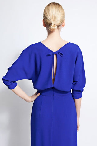 Amal Cobalt Blue Column Dress